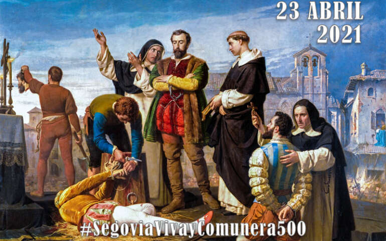 """La Plataforma """"Segovia Viva"""" conmemora el Día de los Comuneros en Segovia y Muñoveros"""